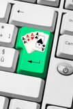 Poker on-line Royalty Free Stock Photography