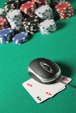 Poker on line concept Royalty Free Stock Photos