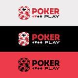 Poker Logo Design. Casino Royale stock illustration