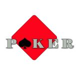 Poker Logo simple Royalty Free Stock Images