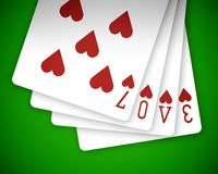 Poker love 01 Stock Photography