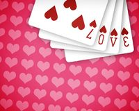 Poker love 04. Love with poker play cards Royalty Free Stock Photo