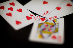 Poker Love. Love etched on pokers (cards) for valentines Royalty Free Stock Photography