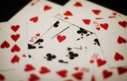Poker Love. Love etched on pokers (cards) for valentines Royalty Free Stock Photos