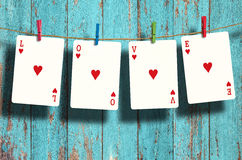 Poker LOVE words Stock Photo