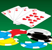 Poker luck Stock Image