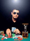 Poker man Royalty Free Stock Photo