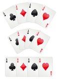 Poker mit drei Assen Stockbild