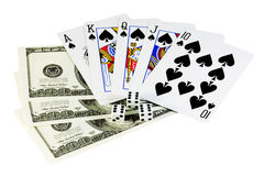 Poker money Stock Photography