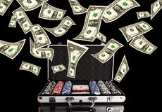 Poker money Royalty Free Stock Images
