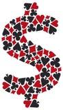 Poker money Royalty Free Stock Images