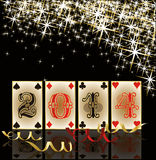 2014 Poker New Year background Royalty Free Stock Photos