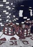Poker night stock photo
