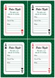 Poker Night Invitations Cards Royalty Free Stock Images