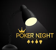 Poker night party. Vector illustration. Royalty Free Stock Image