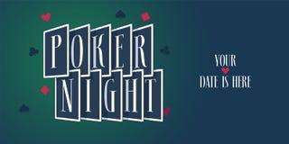 Poker night vector logo, icon royalty free illustration