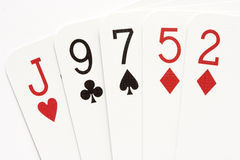 Poker - no-pair Royalty Free Stock Photo