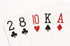 Poker - no-pair Royalty Free Stock Photos