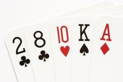 Poker - no-pair. Poker hand - no-pair or high-card combination Royalty Free Stock Photos