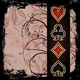 Poker old wallpaper Royalty Free Stock Image