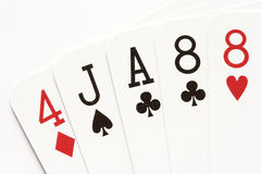 Poker - one pair Royalty Free Stock Photos