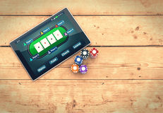 Poker online Royalty Free Stock Photography