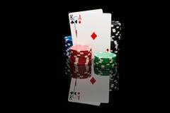 Poker pair royalty free stock photo