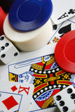 Poker Paraphenalia Royalty Free Stock Images