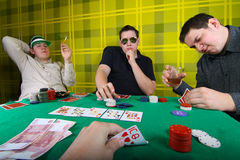 Poker party Royalty Free Stock Photo