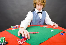 Poker pay out Royalty Free Stock Images