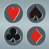 Poker play cards icons Stock Images