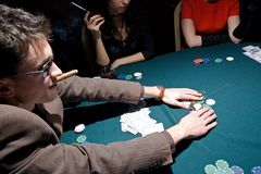 Poker play winner Stock Image