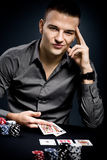 Poker player Royalty Free Stock Photography