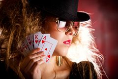 Poker player Stock Photography