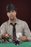Poker player Stock Image