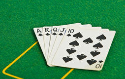 Poker player cards Royalty Free Stock Photo