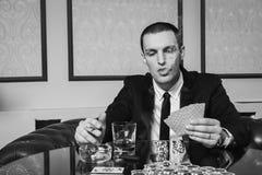 Poker player Royalty Free Stock Photos