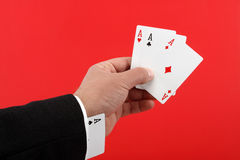 Poker player cheating Royalty Free Stock Images