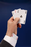 Poker player cheating Royalty Free Stock Photography