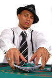 Poker Player Dealing Cards royalty free stock image