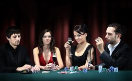 Poker player going Royalty Free Stock Image