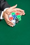 Poker player going Stock Photo
