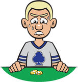Poker Player Losing Royalty Free Stock Images