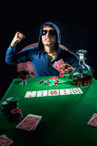 Poker player Stock Photo