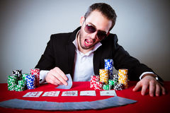Poker player Stock Image
