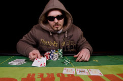 Poker player's win Royalty Free Stock Images