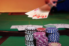 Poker player showing royal flush Royalty Free Stock Photos