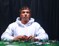 A poker player sitting Stock Photo