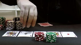 Poker player stock footage