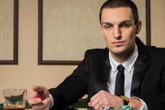 Poker player Stock Photos